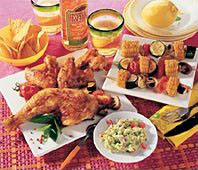Gegrillte Tex-Mex Küche